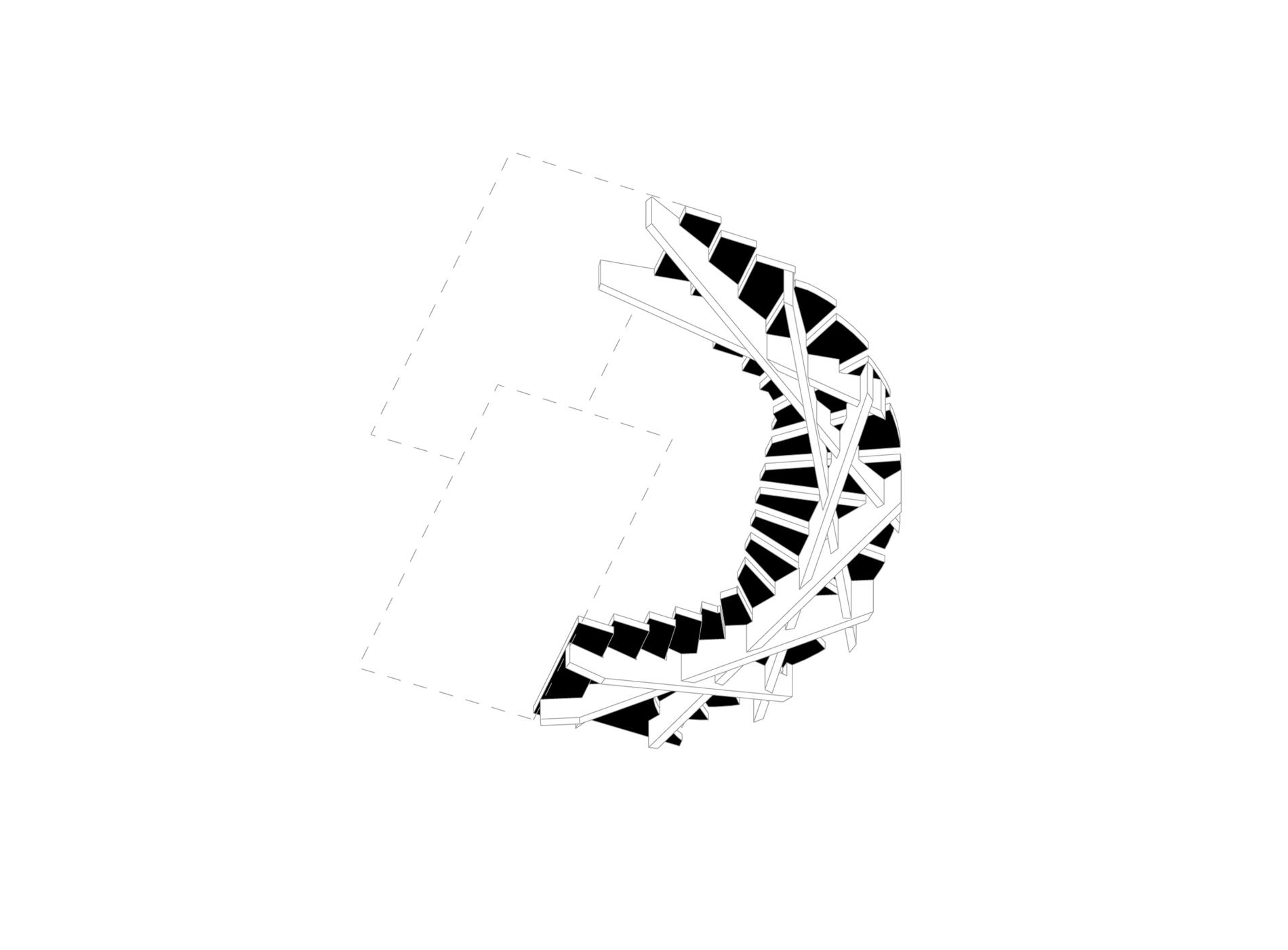 ESCALIER-Vue de dessous